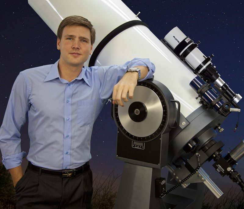 David Rives with ministry telescope